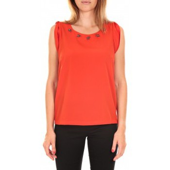textil Mujer Camisetas sin mangas Vero Moda Top BABALULA S/S Rouge Rojo