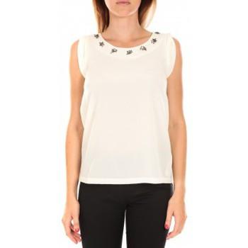 textil Mujer Camisetas sin mangas Vero Moda Top BABALULA S/S Blanc Blanco