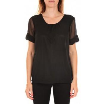 textil Mujer Camisetas manga corta Vero Moda Top BLOMMA SS Black Negro
