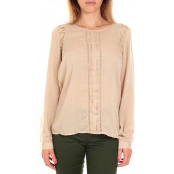 textil Mujer Camisetas manga larga Vero Moda Top LYON LS Doeskin Beige Beige