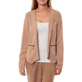 textil Mujer Chaquetas / Americana Vero Moda KANIO LS BLAZER Mahogany Beige