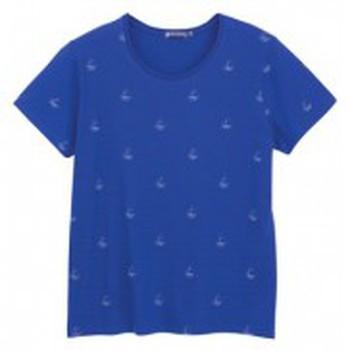 textil Mujer Camisetas manga corta Petit Bateau Tee shirt MC 3433448220 Bleu Azul
