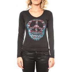 textil Mujer Camisetas manga larga Sweet Company Tee shirt Peace Noir Negro