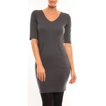 textil Mujer Vestidos cortos Vero Moda Regina 2/4 Short Dress 10099101 Gris Gris