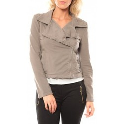 textil Mujer Chaquetas Sweet Company Veste Zip Atomika B Taupe Marrón