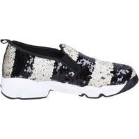 Zapatos Mujer Slip on J. K. Acid slip on blanco lentejuelas negro BX744 blanco