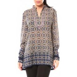 textil Mujer Camisas Dress Code Chemisier SHK F323 Bleu Azul