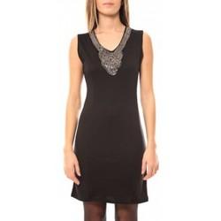 textil Mujer Vestidos cortos Tcqb Robe Perlée 2771 Negro