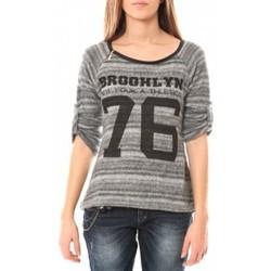 textil Mujer Jerséis De Fil En Aiguille Pull Brooklyn 76 Gris