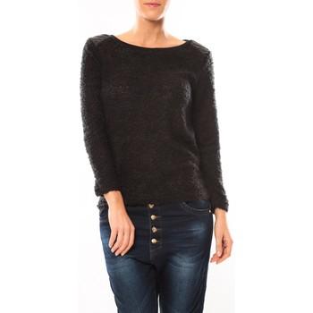 textil Mujer Jerséis De Fil En Aiguille Pull 1422 Noir Negro