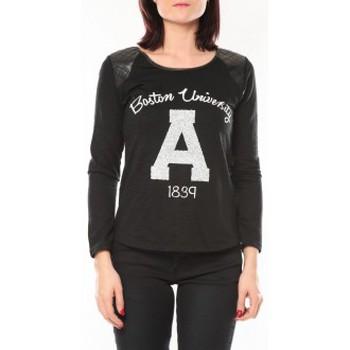textil Mujer Jerséis De Fil En Aiguille Pull E1325 Noir Negro