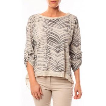textil Mujer Camisetas manga larga By La Vitrine Tee shirt Zèbre Asso Gold Beige - Beige