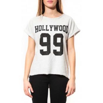 textil Mujer Camisetas manga corta By La Vitrine Tee Shirt Hollywood 99 Blanc Blanco
