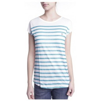 textil Mujer camisetas manga corta Little Marcel T-shirt Doldi Bleu Turquoise Azul
