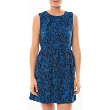textil Mujer Vestidos cortos Vero Moda Robe Noel SL Mini Dress Mix Wall 10087646 Bleu Azul