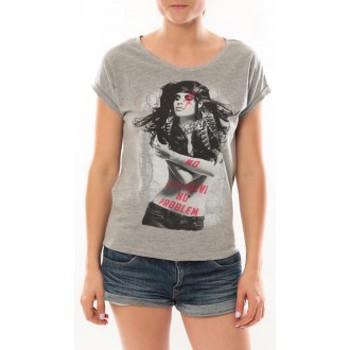 textil Mujer Camisetas manga corta L'atelier Du Marais T-Shirt Want To See Gris Gris