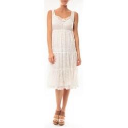 textil Mujer Vestidos cortos Dress Code Robe LF11252 Blanc Blanco