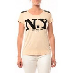 textil Mujer Camisetas manga corta Dress Code T-Shirt Love Look NY 1660 Beige Beige