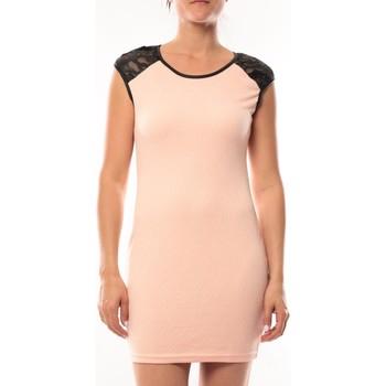 textil Mujer Vestidos cortos Dress Code Robe Love Look 320 Rose Rosa