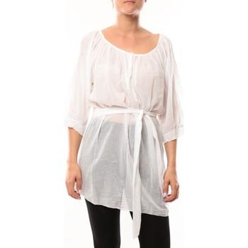 textil Mujer Túnicas De Fil En Aiguille Robe JL Blanc Blanco