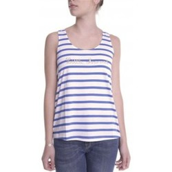 textil Mujer camisetas sin mangas Little Marcel Débardeur Domino E14IBF031 Blanc Blanco
