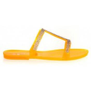 Zapatos Mujer Zuecos (Mules) Ilario Ferucci Mules Ursina Uziel Orange Naranja