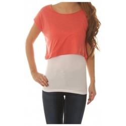 textil Mujer Tops / Blusas Vero Moda Shorty Wide Top Rosa