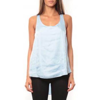 textil Mujer Camisetas sin mangas Vero Moda Tokio S/L Top It 10108950 Bleu Azul