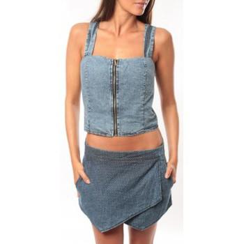 textil Mujer Camisetas sin mangas Dress Code Bustier Saxx Bleu Azul
