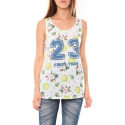 textil Mujer Camisetas sin mangas Tcqb Débardeur NYOU 23 Blanc Blanco