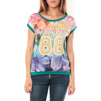 textil Mujer Camisetas manga corta Tcqb T-shirt 88 Vert Verde