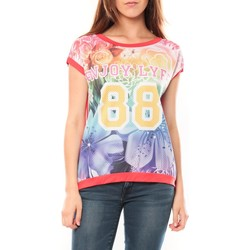 textil Mujer Camisetas manga corta Tcqb T-shirt 88 Rouge Rojo