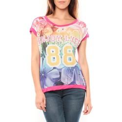 textil Mujer Camisetas manga corta Tcqb T-shirt 88 Rose Rosa