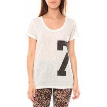 textil Mujer Camisetas manga corta Tcqb Tee shirt SL1601 Blanc Blanco