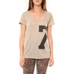 textil Mujer Camisetas manga corta Tcqb Tee shirt SL1601 Beige Beige