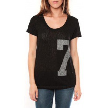 textil Mujer Camisetas manga corta Tcqb Tee shirt SL1601 Noir Negro