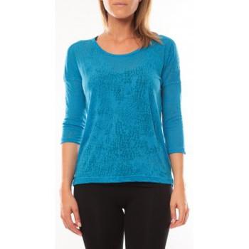 textil Mujer Camisetas manga larga Vero Moda Fiona 3/4 Top It 10108869 Bleu Azul