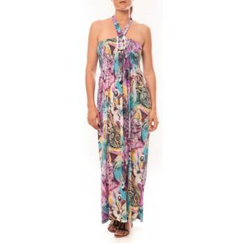 textil Mujer Vestidos largos Nina Rocca Robe Sylvia F587 Violet Violeta