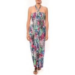 textil Mujer Vestidos largos Nina Rocca Robe Sylvia F587 Bleu Azul