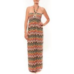 textil Mujer Vestidos largos By La Vitrine Robe Sylvia F594 Orange Naranja