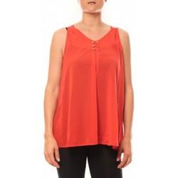 textil Mujer Camisetas sin mangas De Fil En Aiguille Débardeur may&co 882 Rouge Rojo