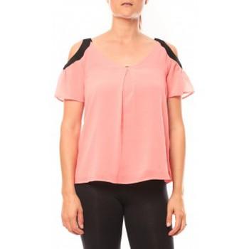 textil Mujer Camisetas manga corta Comme Des Filles Comme des Garçons T-shirt Moni&Co 328 Fushia Rosa