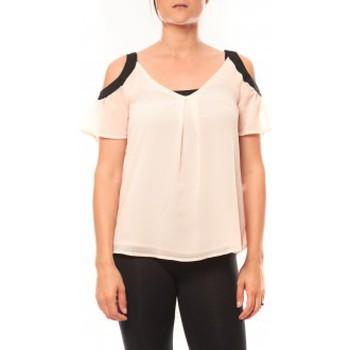 textil Mujer Camisetas manga corta Comme Des Filles Comme des Garçons T-shirt Moni&Co 328 Rose Rosa