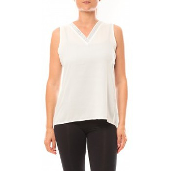 textil Mujer Camisetas sin mangas De Fil En Aiguille Débardeur Voyelle L147 Blanc Blanco