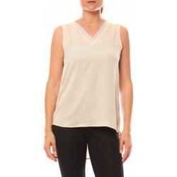 textil Mujer Camisetas sin mangas De Fil En Aiguille Débardeur Voyelle L147 Beige Beige