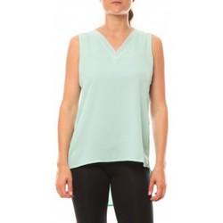 textil Mujer Camisetas sin mangas De Fil En Aiguille Débardeur Voyelle L147 Turquoise Azul