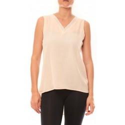 textil Mujer Camisetas sin mangas De Fil En Aiguille Débardeur Voyelle L147 Rose Rosa