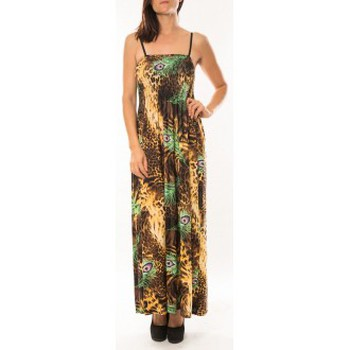 textil Mujer Vestidos By La Vitrine Robe Huamei F723 Vert Verde