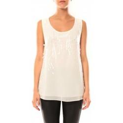 textil Mujer Camisetas sin mangas De Fil En Aiguille Débardeur Victoria & Karl MX0660 Beige Beige
