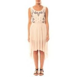 textil Mujer Vestidos De Fil En Aiguille Robe Victoria & Karl GH0012 Rose poudre Rosa